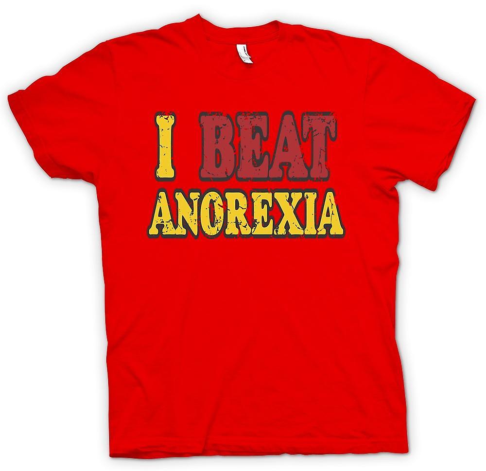 Mens T-Shirts - ich schlug Anorexia - lustig