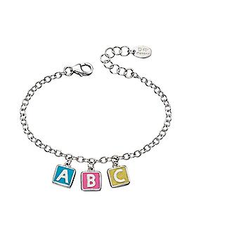 D For Diamond Childrens Sterling Silver Abc Charm Bracelet #b4878