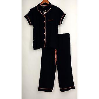 Harve Benard Set Button Avant Short Slv Top Matching Pantalon Navy Blue S421710