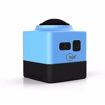 Cube360 outdoor wifi mini sports camera - hd panoramic 360 degree waterproof action camera, blue