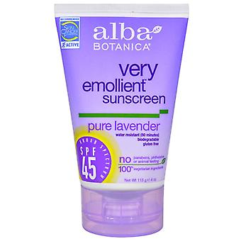 Alba botanica natural sunscreen, pure lavender, spf 45, 4 oz