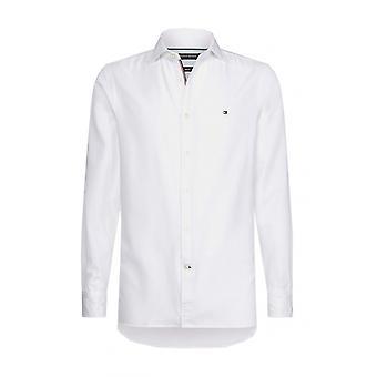 Tommy Hilfiger slim fit stretch Bomullsskjorte lyse hvit