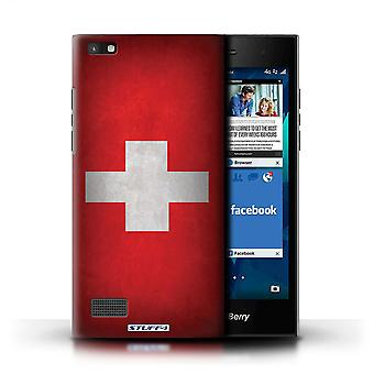STUFF4 Case/Cover for Blackberry Leap/Switzerland/Swiss/Flags