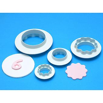 Edge Cutter Set 4 Pieces Round Wavy Rw702