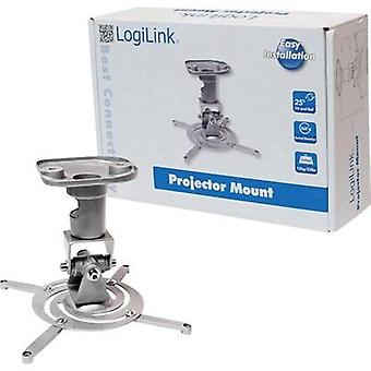 Projector ceiling mount Tiltable, Rotatable Max. distance to floor/ceiling: 22 cm LogiLink BP0001 Silver