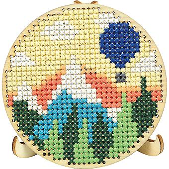 Round Wood Display W/Easel Punched For Cross Stitch-3