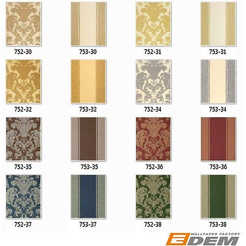 3D Baroque wallpaper vintage EDEM 752 38 luxury neo classic damask wallpaper Green gold Platinum shade