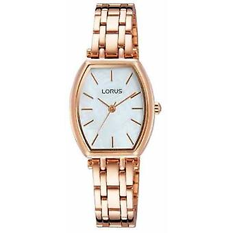 Lorus Womens goud-Tone Stainless Steel White Dial RG258LX9 Watch