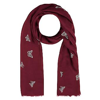 Schal mit roten & blaue Schmetterling-Print