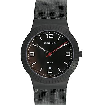 Bering mens watch wristwatch slim classic - 10938-222 Meshband