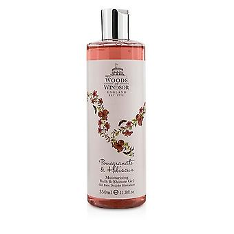 Woods Of Windsor Pomegranate & Hibiscus Moisturising Bath & Shower Gel 350ml/11.8oz