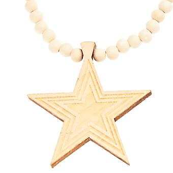 Wood style Bead Necklace - SUPERSTAR beige