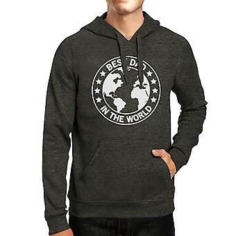 World Best Dad Dark Gray Unisex Hoodie Funny Design Top For Dad