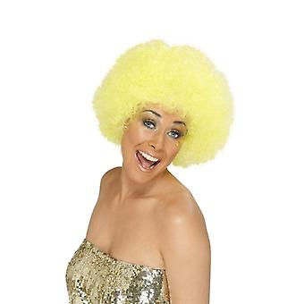 Curly Afro wig 70s party clown head of curls