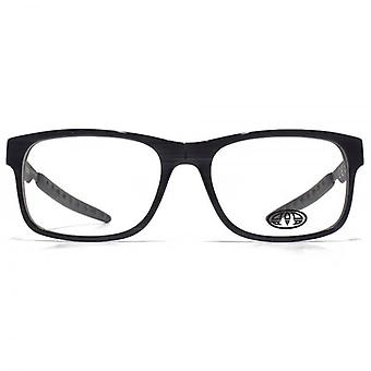 Animal Hariss Rectangle Acetate Glasses In Streaky Grey On Black