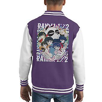 Ranma 1 2 Character Montage Kid's Varsity Jacket