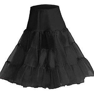 Boolavard 1950's Petticoat Underskirt Retro Vintage Swing 1950's Rockabilly - Black (6-14)
