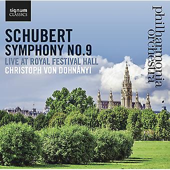 Schubert, f el. / Philharmonia Orchestra - Sinfonía No. 9 vivo en el Royal Festival Hall [CD] USA import