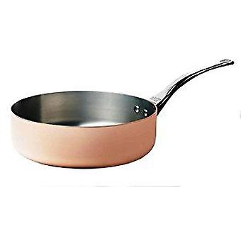 De Buyer INOCUIVRE straight sauté-pan in stainless steel copper 2mm thick Cast stainless steel handle