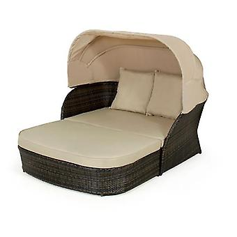 Maze Rattan Sydney Day Bed With Hood