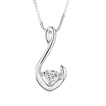 Por siempre corazón Classic 4.0mm Moissanite colgante, collar, Rocío ct