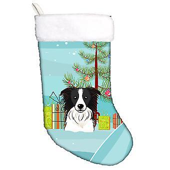 Albero di Natale e calza di Natale di Border Collie