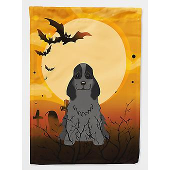Carolines Treasures  BB4358GF Halloween Cocker Spaniel Black Flag Garden Size