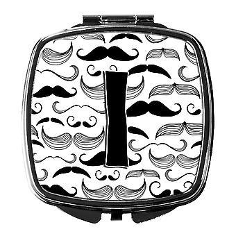 Carolines Treasures  CJ2009-ISCM Letter I Moustache Initial Compact Mirror