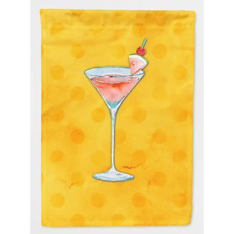 Summer Martini Yellow Polkadot Flag Canvas House Size
