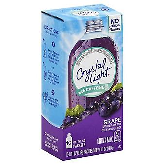Crystal Light on the Go Grape with Caffeine Drink Mix Packets