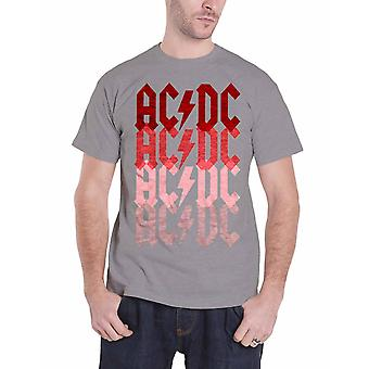 AC/DC Mens T Shirt Grey Fade Highway To Hell band logo Official
