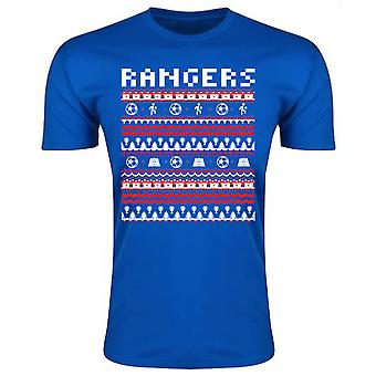 Rangers jul T-Shirt (blå)