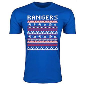 Rangers Christmas T-Shirt (Blue)