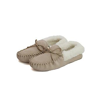 Eastern Counties Leather Womens/Ladies Soft Sole Wool Lined Moccasins
