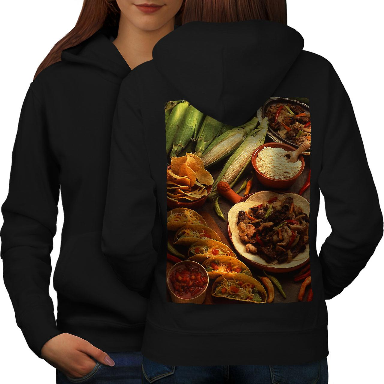Tacos mexicains Photo femmes noirHoodie dos