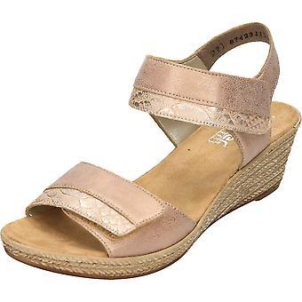 Rieker Wedge Heeled Platform Open Toe Sandals 62470-31