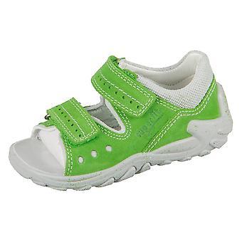 Superfit Flow Grün Kombi Velour Textil 20003031   infants shoes