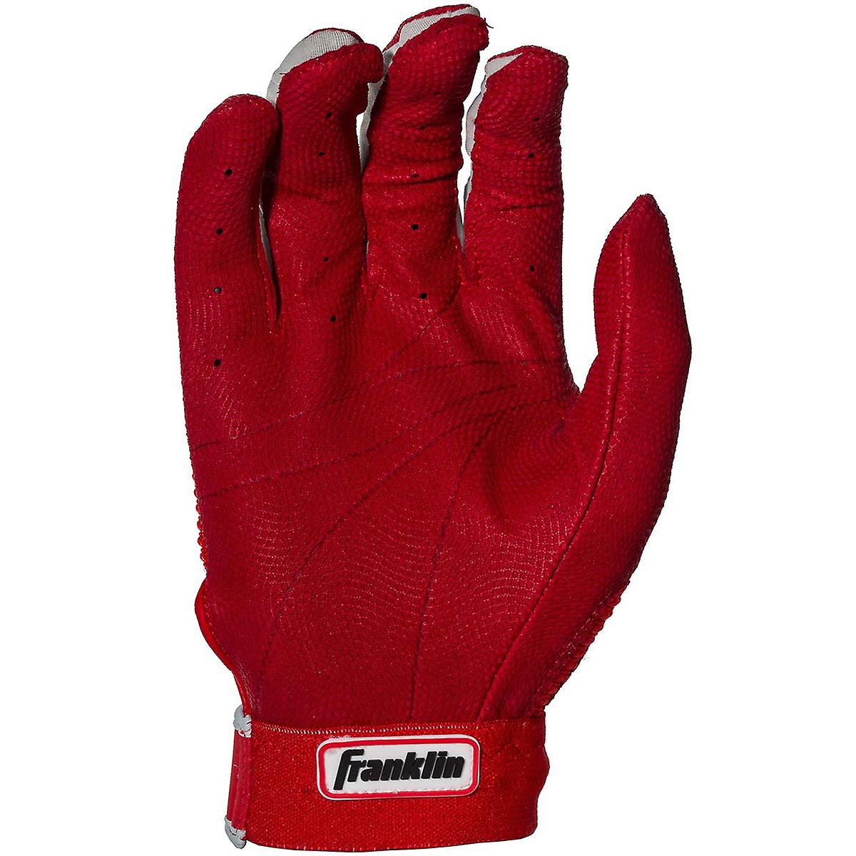 Franklin Adult Pro Classic MLB Batting Gloves - Red/Red