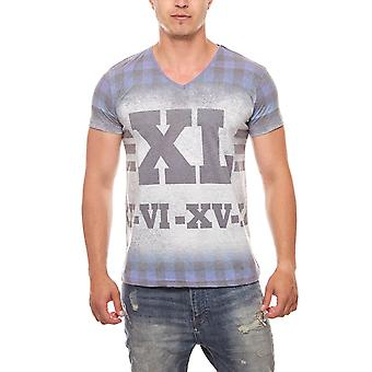 RUSTY NEAL T-Shirt men's print shirt Roma grey