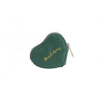 CGB Giftware Willow And Rose Brunch Money Green Heart Coin Purse