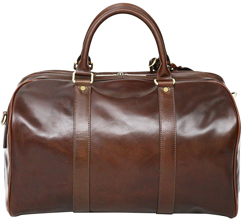 S Babila Leather Duffel Holdall Bag Hand Luggage Cabin Size