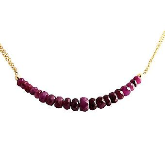 Ruby Ruby chain Red Ruby necklace gold plated