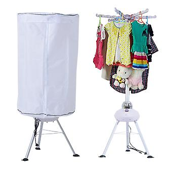HOMCOM Hot Air Clothes Dryer 900W Electric Indoor Home Laundry Drying Machine White Portable