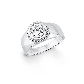 s.Oliver jewel ladies ring silver cubic zirconia SO1399