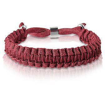 Skipper braided bracelet bracelet bracelet braided nylon in Bordeaux silver 7174