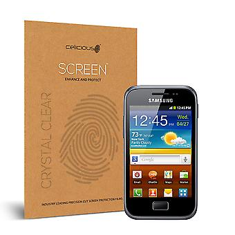 Celicious Vivid Invisible Glossy HD Screen Protector Film Compatible with Samsung Galaxy Ace Plus [Pack of 2]