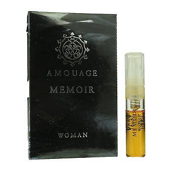 Amouage 'Gedenkschrift' Eau De Toilette Spray voor vrouw 0,05 oz Vial (originele formule)