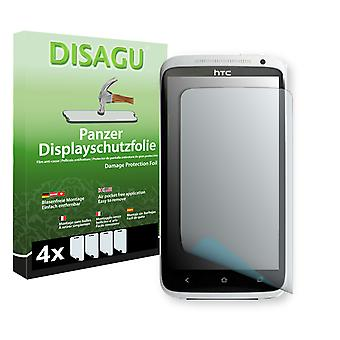 HTC one XL EU display - Disagu tank protector film protector (deliberately smaller than the display, as this is arched)