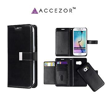 Accezor ™ Casey Spacious wallet pouch with Avtagart covers for Galaxy S6 Edge Plus