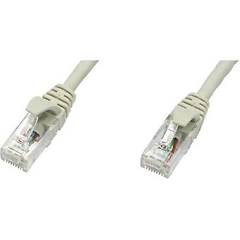 Telegärtner RJ45 redes Cable CAT 5e U/UTP 3 m gris ignífugo